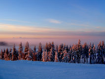 холодная зима вечера Стоковое Изображение
