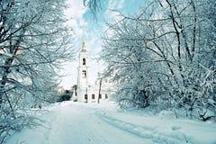 холодная зима утра Стоковая Фотография