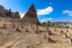 холодная зима goreme Cappadocia, Турция Стоковые Фотографии RF