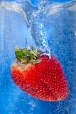 холодная клубника Стоковые Фото