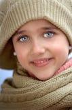 холодная приющенная девушка Стоковое Фото