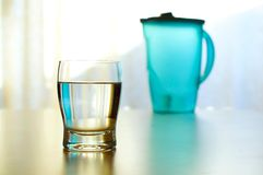 холодная стеклянная вода Стоковое Фото