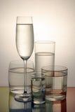холодная стеклянная вода Стоковые Изображения