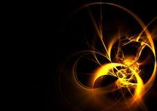 холодная фракталь пожара Стоковое Изображение RF
