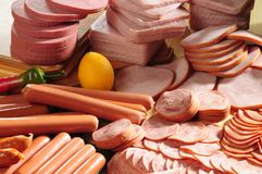 холодное мясо Стоковые Изображения RF