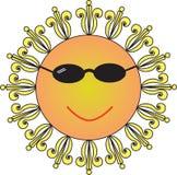 холодное солнце Стоковое Фото