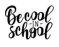 ` Холодно в литерности ` школы для дизайна знамени иллюстрация штока
