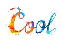 холодно Письменное слово руки краски выплеска иллюстрация вектора