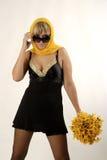 холодные женщины цветков Стоковое фото RF