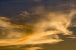 Холодные облака над пляжем Bethany Стоковые Изображения RF