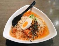 Холодные рамэны в корейском стиле стоковая фотография rf