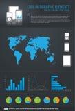 холодные элементы infographic Стоковое Изображение