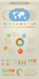 холодные элементы infographic Стоковое Фото