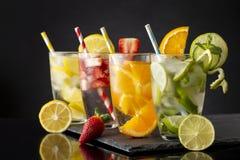 Холодные fruity настоянные воды Стоковое Фото