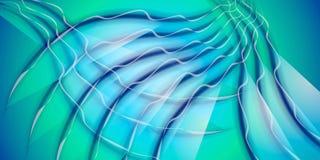 Холодные Wispy линии синь картины стоковые фотографии rf