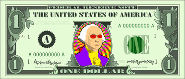 холодный доллар george Стоковое Изображение RF