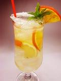 холодный лимон фруктового сока питья Стоковая Фотография