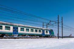 холодный поезд Стоковая Фотография