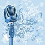 холодный сбор винограда микрофона Стоковые Изображения