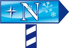 холодный северный знак Стоковое Изображение RF