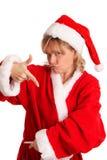 Холодный смотря Mrs. Santa Claus Стоковые Изображения