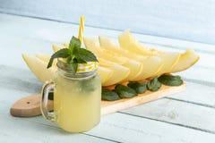 Холодный сок дыни Стоковое Фото