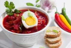 Холодный суп борща Стоковые Изображения RF