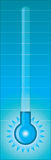 холодный термометр Стоковое фото RF