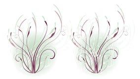 холодный флористический мотив Стоковая Фотография RF