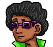 Холодный человек диско Афро иллюстрация вектора