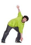 холодный человек танцора стоковая фотография rf
