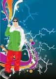 холодный человек иллюстрация штока