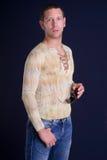 холодный человек стоковое изображение rf