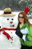 холодный hug Стоковая Фотография