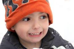 холод мальчика Стоковое Фото