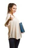 Холодная стильная молодая девушка студента. Стоковая Фотография RF