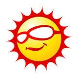 холодное солнце Стоковые Изображения