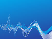 холодные волны вектора Стоковое Изображение
