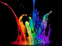 Холодный выплеск цвета Стоковые Фотографии RF