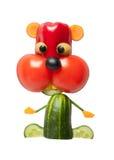 Хомяк сделанный из перца, томата и огурца Стоковое Изображение