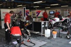 Хонда 2012 monza участвуя в гонке мир команды superbike Стоковые Изображения RF