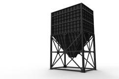 Хоппер металла для хранения материалов Иллюстрация вектора