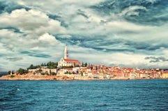 Хорватия Взгляд Rovinj Стоковое Фото