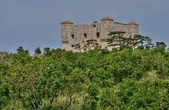 Хорватия, живописный форт Nehaj в Senj Стоковое фото RF