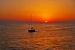 Хорватия заход солнца адриатического моря Стоковое Изображение RF