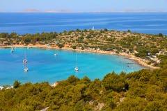 Хорватия - адриатическое море стоковое изображение rf