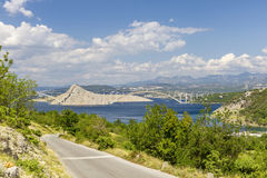 Хорватия - мост к острову Стоковое Изображение RF