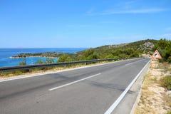 Дорога Хорватии стоковое изображение