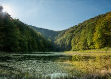 Хорватия - природный парк Papuk - озеро Jankovac стоковое фото rf