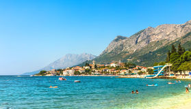 Хорватия - Makarska riviera - Gradac стоковое фото rf